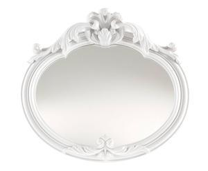 Specchio da parete ovale con cornice orizzontale in resina impero - 24X23X4 cm