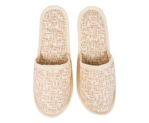 Pantofole beauty con sacca Squash naturale - Taglia 36/38