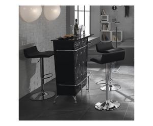 mobile bar in mdf e melamico DIVA BLACK - 99x110x42 cm
