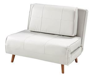 Poltrona letto in legno ed ecopelle Shift - 100x85x80 cm
