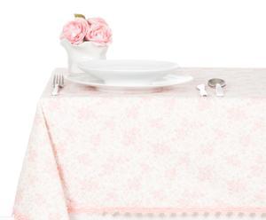 Tovaglia ovale in cotone Sweet Flower rosa - 160x215 cm