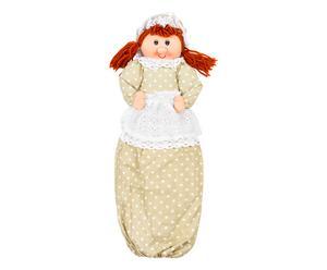Bambolina portasacchetti in cotone Genoveffa - h 58 cm