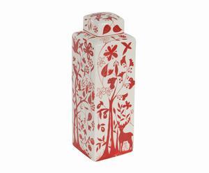 potiche in ceramica leonor - 11x32x11 cm