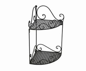 Mensola angolare da parete in ferro Odette - 20x37x20 cm