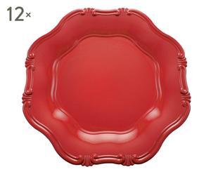 SET di 12 sottopiatti hippy rosso - d 34 cm