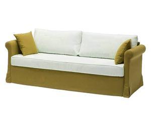 DIVANO LETTO creta verde + cuscini - 200X80X90 CM