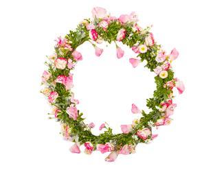 Ghirlanda fiorita Marelle - 38x38x5 cm