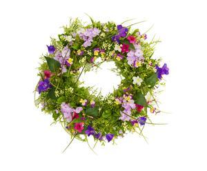 Ghirlanda decorativa floreale Primavera viola - 50x50x14 cm