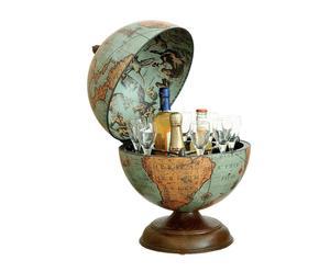 globo bar da tavolo eris laguna - d 33/h 47 cm