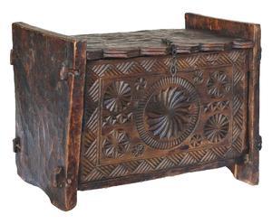 Baule indiano afghano in legno di cedro - 93x70x53 cm