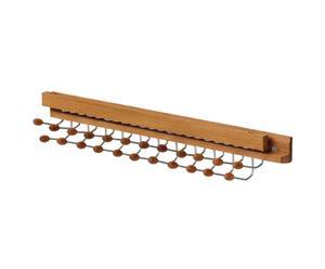 Portacravatte da anta in faggio massiccio con 23 ganci Red - l 42 cm