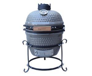 Barbecue in ceramica e ghisa Mark grigio - 40x58x33 cm