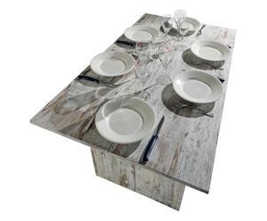 Tavolo-consolle allungabile in melamina Vintage - max 120x75x70 cm