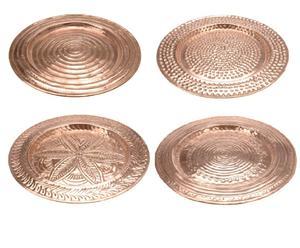Set di 4 vassoi in alluminio gong - d 38 cm