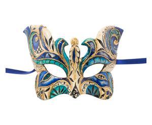 Maschera con decori pittorici farfalla blu - 25x10 cm