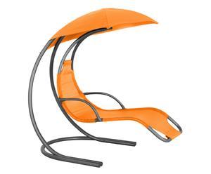 Sdraio a dondolo in acciaio e textilene Gioia arancione - 179x170x115 cm