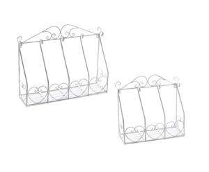 Set di 2 mensoline portapiante in ferro a sospensione Olivia - max 64x51x18 cm