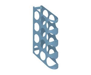 Portabottiglie da parete Holes One blu - 12x44x30 cm