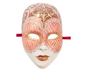 Maschera con decori pittorici Viso marrone - 27x25 cm
