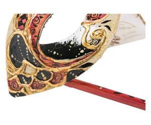 Maschera con manivo destro Occhi rossa - 20x8 cm