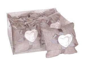 Set di 6 gessetti profumati con cuscinetti Cuore - 7x7 cm