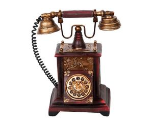 Carillon decorativo in resina Old Phone - 17x20x12 cm
