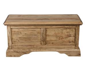 Cassapanca in legno noce naturale - 100x48x38 cm