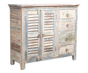 Credenza a 2 ante e 4 cassetti in legno - 105x35x90 cm