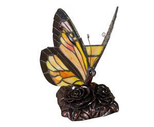 Lampada Tiffany da tavolo in vetro e ottone Emily - 22x24x12 cm
