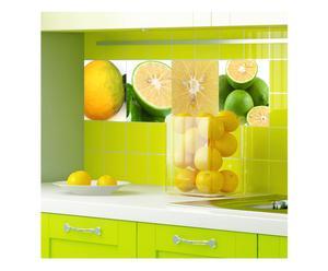 Set di 4 piastrelle adesive in vinile Lime - 20x20 cm
