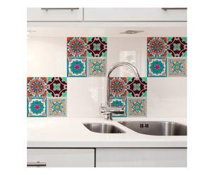 Piastrelle adesive per cucina: per pareti di stile dalani e ora