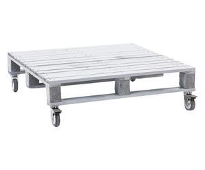 Tavolino basso in legno di abete Pallet cenere - 80x22x80 cm