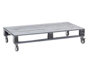 Tavolino rettangolare in legno di abete Pallet grigio - 110x55x22 cm