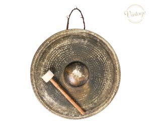 Gong tibetano vecchia manifattura Boseph grigio - d 55 cm