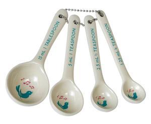 Set di 4 cucchiai dosatori in ceramica Sweet - L 12 cm
