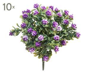 Set di 10 bouquet decorativi con bacche viola - d 21 cm