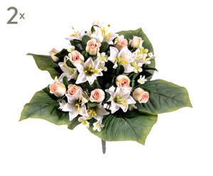 Set di 2 bouquet decorativi con roselline - d 35 cm
