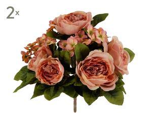Set di 2 bouquet decorativi Peonia pesca - d 26 cm