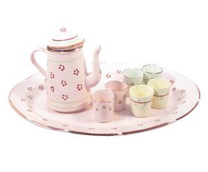 Set da caffe\' con vassoio, caffettiera e 6 bicchierini - Easter I
