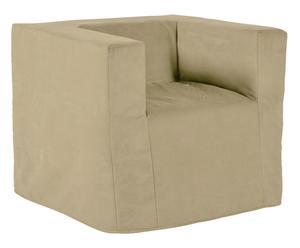 Poltrona letto trasformabile beige - 80x70x80 cm