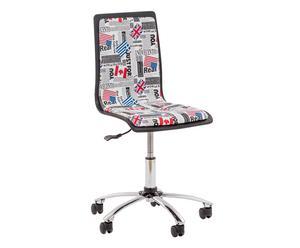 Sedia regolabile da ufficio in pvc Flag - max 42x40x99 cm