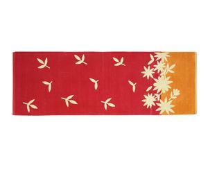 Passatoia in ciniglia di cotone Venezia rosso - 50x220 cm
