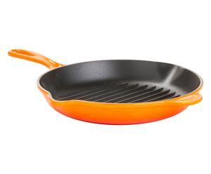 Padella in ghisa arancione - 26x5x30 cm