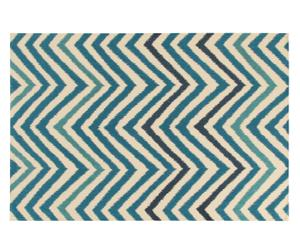 Tappeto in cotone organico Ikat Sea - 65x130 cm