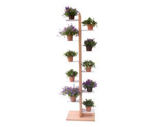 Portavasi a colonna in faggio Zia Flora naturale - 30x158x42 cm