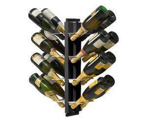 Portabottiglie bifacciale sospeso in faggio Zia Gaia nero - 19x66x17 cm