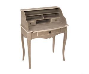 Secretaire in legno con cassettini Sabry - 70x100x40 cm