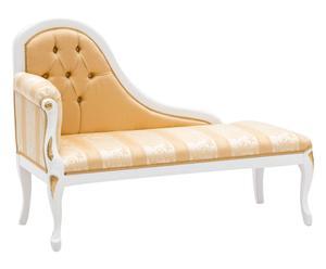Dormeuse in faggio massiccio bianco e oro - 140x100x55 cm