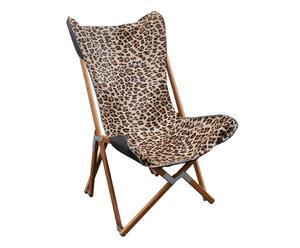 Poltroncina pieghevole in legno Leopard Chair - 51x80x51 cm