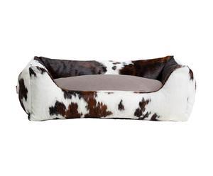 Cuccia in pelle con cuscino double face Country - 90x120 cm